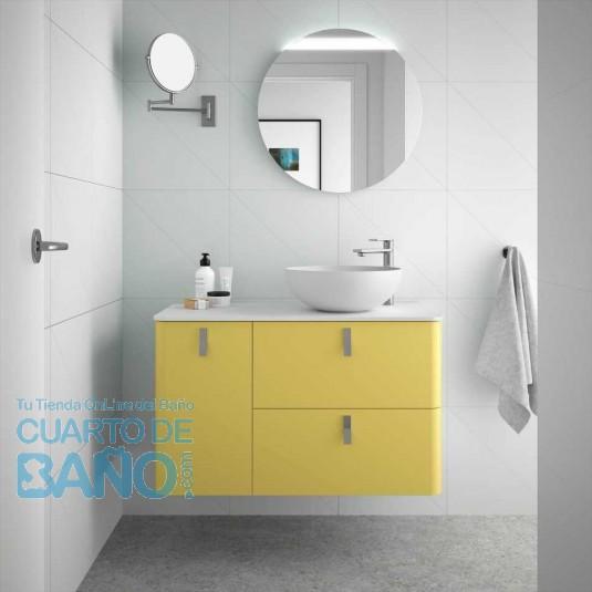 Mueble de baño UNIIQ PAJA Salgar 90 cm con LAVABO Sobrencimera