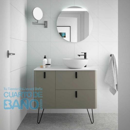 Mueble de baño UNIIQ Salgar 90 cm con LAVABO sobre encimera TAUPE