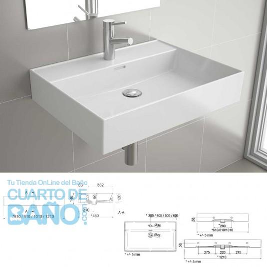 Lavabo porcelana blanca  VENETO 610 Salgar 23400