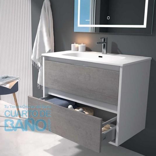 Mueble de baño ZAO Duplach Bicolor 2 cajones con LAVABO