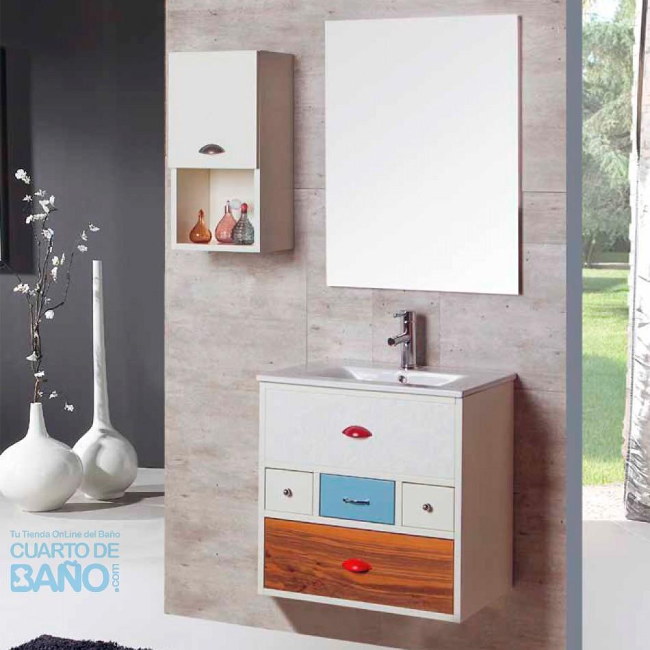 Captivating Mueble De Baño VINTAGE 16 Verrochio 60 Cm SUSPENDIDO Con LAVABO