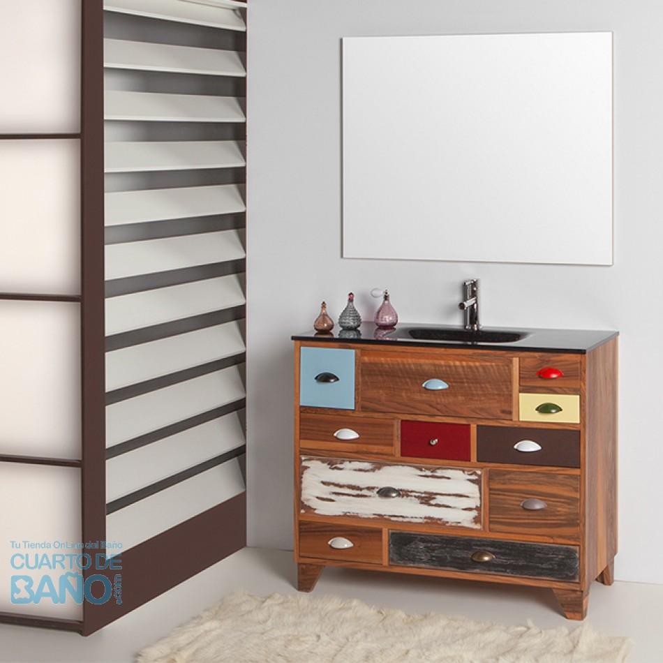 Mueble De Baño VINTAGE 04 Con Patas Cromadas P07 Verrochio