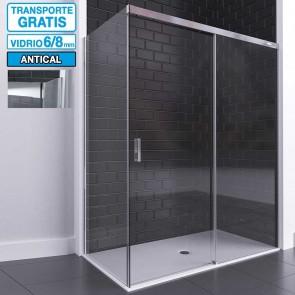 Mampara CADI de Seviban angular de ducha hasta 240 cm de 3 hojas: 2 fijas y 1 corredera