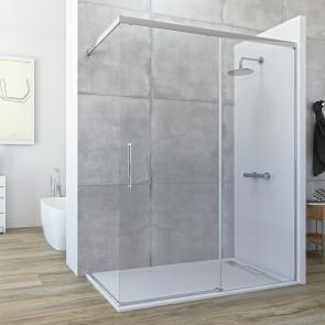 Mampara VOLANTIS de Seviban fija mas corredera de ducha sin cierre hasta 160 cm