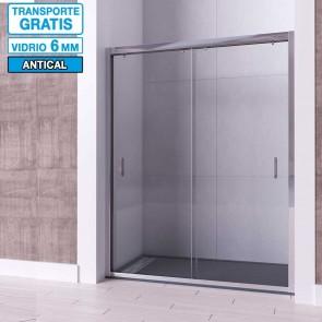 Mampara frontal de ducha PERLA de Seviban Dos puertas correderas