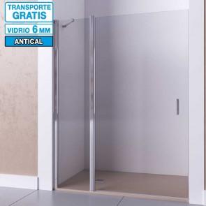 Mampara de ducha frontal con puerta abatible y fijo CIRCE de Seviban.
