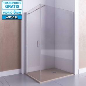 Mampara de ducha angular con puerta abatible AFRODITA de Seviban.