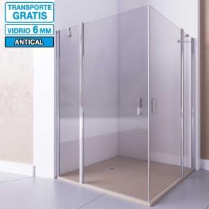 Mampara de ducha angular con 2 puertas abatibles y 2 fijos MINOS de Seviban