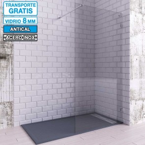 Mampara de ducha Hoja Fija con Pinzas OLGA de Seviban