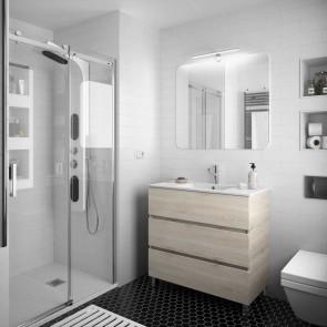 Mueble de baño FUSSION LINE Salgar 90 cm 3 cajones con LAVABO