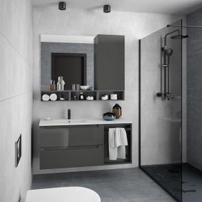 Mueble de baño MODULAR MONTERREY Salgar de 120 cm (80+40) con LAVABO desplazado