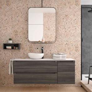 Mueble de baño MODULAR MONTERREY Salgar de 140 cm (100+40) con LAVABO desplazado