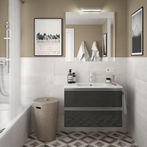 Mueble de baño SPIRIT Salgar 2 CAJONES suspendido 80 cm