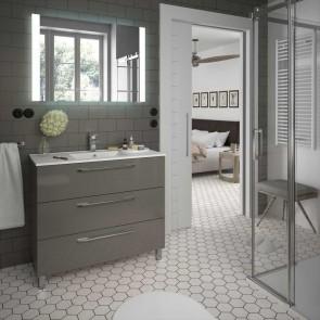 Mueble de baño FUSSION CHROME Salgar 100 cm 3 cajones con LAVABO