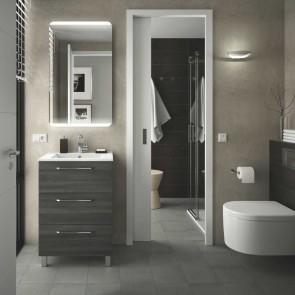 Mueble de baño FUSSION CHROME Salgar 60 cm 3 cajones con LAVABO