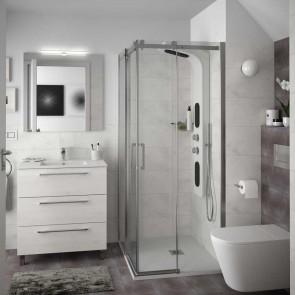 Mueble de baño FUSSION CHROME Salgar 80 cm 3 cajones con LAVABO