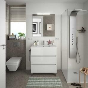 Mueble de baño FUSSION LINE Salgar 80 cm 3 cajones con LAVABO