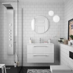 Mueble de baño FUSSION CHROME Salgar suspendido 80 cm con lavabo