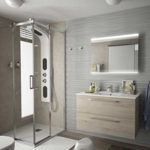 Mueble de baño FUSSION CHROME Salgar suspendido 90 cm