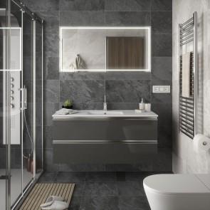 Mueble de baño SPIRIT Salgar 2 CAJONES suspendido 120 cm