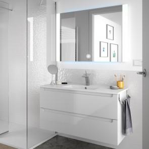 Mueble de baño MONTERREY Salgar 2 CAJONES suspendido 100 cm