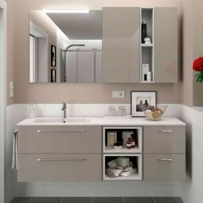 Mueble de baño MODULAR FUSSION CHROME Salgar 160 cm (80+40+40)
