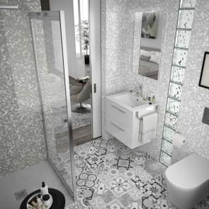 Mueble de baño FUSSION CHROME Salgar suspendido 60 cm con LAVABO