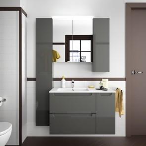 Mueble de baño MODULAR MONTERREY Salgar de 85 cm (60+25) con LAVABO desplazado