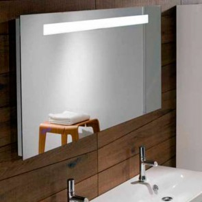 Ambiente espejo baño 1400x650 iluminación led, reloj digital y antivaho JCD-EB1163-NF