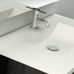 Encimera de Solid Surface con 1 Lavabo OXIRION ANCHO hasta 240 cm SIN FALDÓN