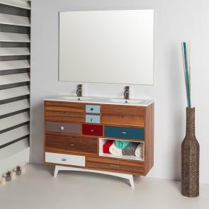 Mueble de baño VINTAGE 01 visto con bancada P05 Verrochio