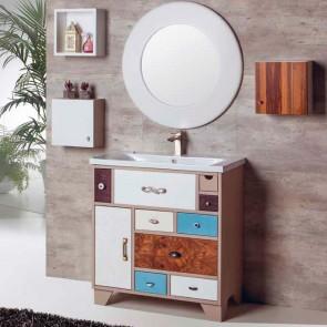 Mueble de baño VINTAGE 08 80 cm con lavabo cerámico LINEA Verrochio