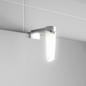 Aplique baño ELSA Cromo Brillo Salgar 39x157x119 multienganche iluminación led (3W) 23537 IP44 - Sujeción multienganche.