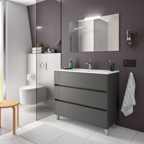 Mueble de baño ARENYS Salgar 100 cm con LAVABO Gris Mate
