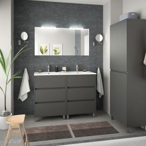Mueble de baño ARENYS Salgar 120 cm con LAVABO Gris Mate