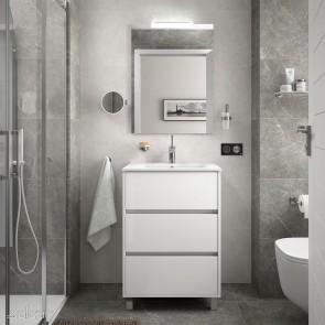 Mueble de baño ARENYS Salgar 60 cm con LAVABO Blanco Brillo