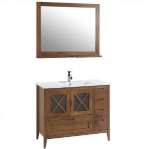 Mueble de baño rústico ÁVILA con patas 100 cm