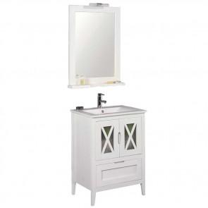 Mueble de baño rústico Avila 70 cm con lavabo