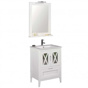 Mueble de baño rústico Avila 60 cm con lavabo