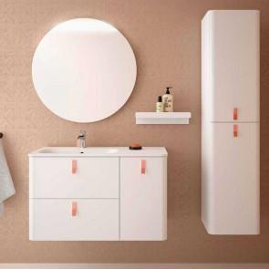 Mueble de baño UNIIQ BLANCO Salgar 90 cm con LAVABO Sobrencimera