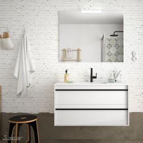 Mueble de baño ATTILA 1000 de Salgar con lavabo cerámico Blanco