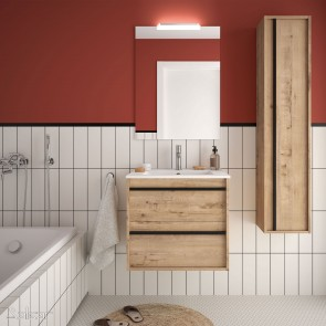Mueble de baño ATTILA 600 de Salgar con lavabo cerámico Ostippo