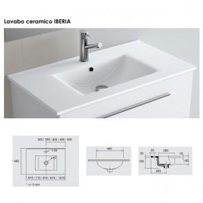 Lavabo porcelana Salgar 810x20x460 mm Iberia blanco 14712