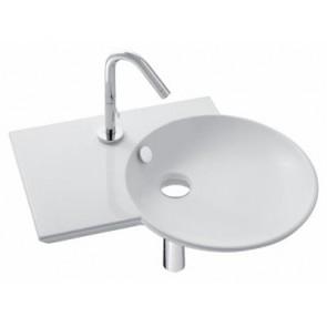 Lavabo plano autoportante seno derecha 60 x 41 cm FORMILIA SPHERIK blanco JCD-LAVFORS601