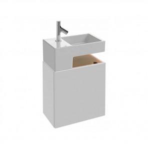Mueble de baño TERRACE con lavamanos de 50 cm de ancho color Blanco