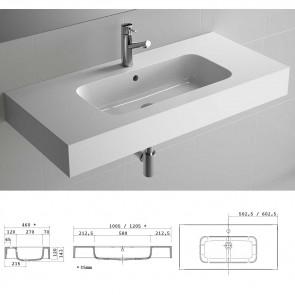 Cotas lavabo carga mineral ESCOCIA 1205 Salgar doble MineralMarmo