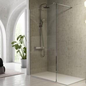 Mampara de ducha hoja fija FRESH FR633 de Kassandra con cristal Transparente