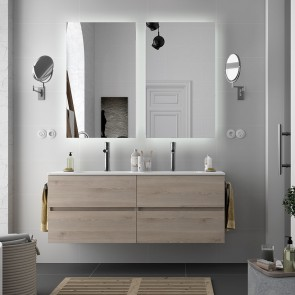 Mueble de baño MODULAR FUSSION LINE Salgar de 160 cm (80+80) con LAVABO doble