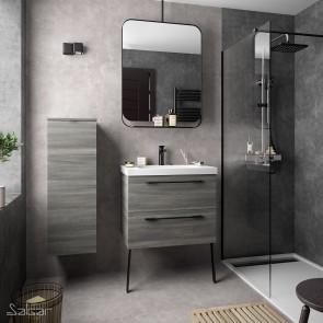 Mueble de baño FUSSION CHROME Salgar suspendido 70 cm con lavabo