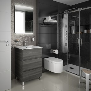Mueble de baño FUSSION LINE Salgar 60 cm 3 cajones con LAVABO